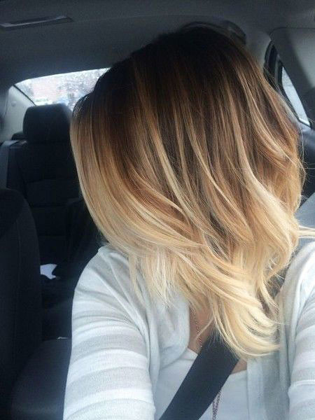 Ombre-Hairstyle Hair Color Ideas for Short Haircuts