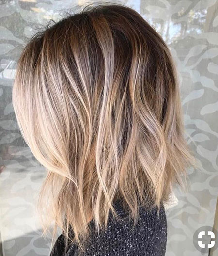 Root-Smudge-Blonde-Hair Popular Short Haircuts 2018 – 2019