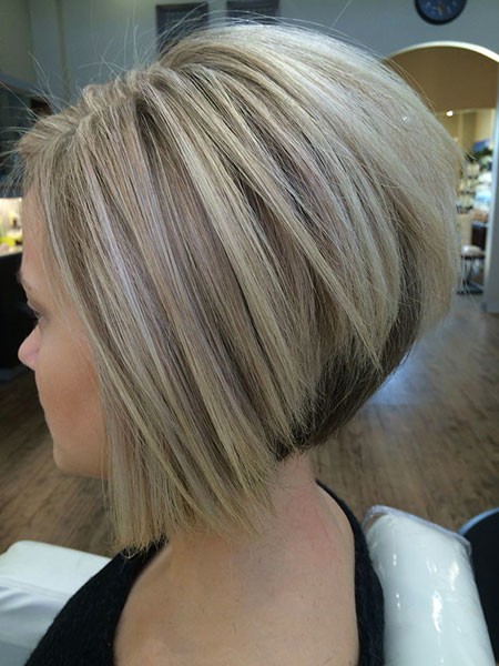 Sharp-Graduated-Bob Short Inverted Bob Hairstyles