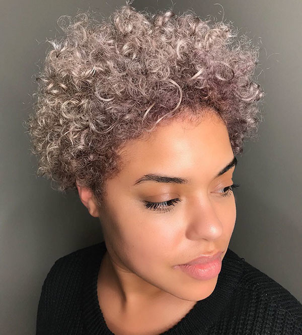 Short-Afro-Hair Short Haircuts for Black Women 2019