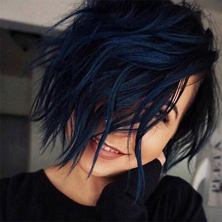 Short-Blue-Black-Hair Popular Short Haircuts 2018 – 2019