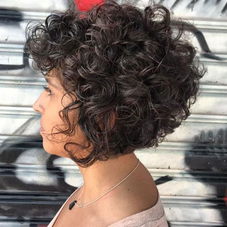Short-Bob-Haircut-for-Curly-Hair Popular Short Curly Hairstyles 2018 – 2019