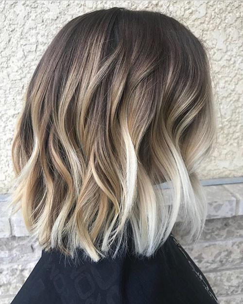 Short-Caramel-Ombre-Hair Popular Short Haircuts 2018 – 2019