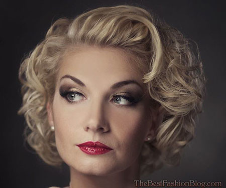 Short-Curly-Hair-of-60's 1960's Short Hairstyles