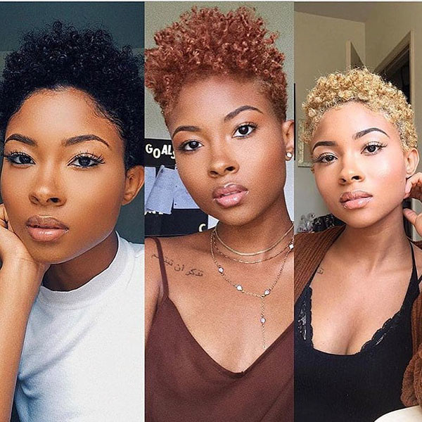 Short-Curly-Hairstyle Short Haircuts for Black Women 2019