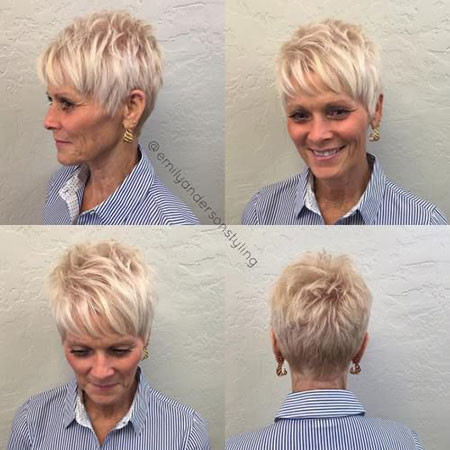 Short-Hairstyles-for-Over-50 Best Pixie Haircuts for Over 50 2018 – 2019