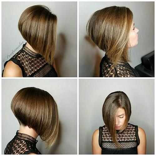 Short-Inverted-Bob-Haircut Popular Short Haircuts 2018 – 2019