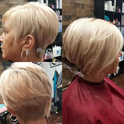Short-Layered-Asymmetrical-Bob Short Layered Haircuts 2018 – 2019