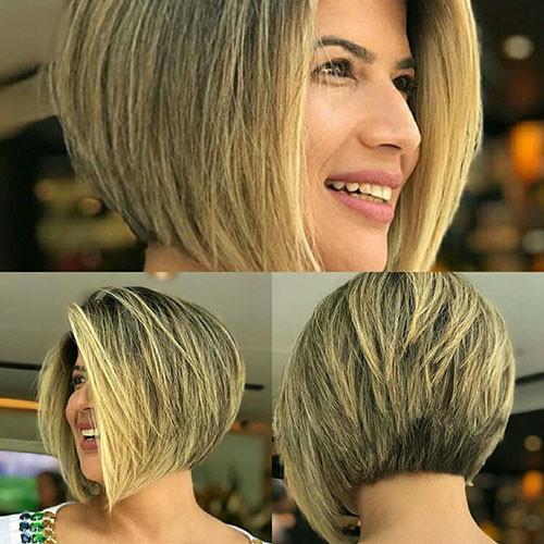 Short-Layered-Inverted-Bob Short Layered Haircuts 2018 – 2019