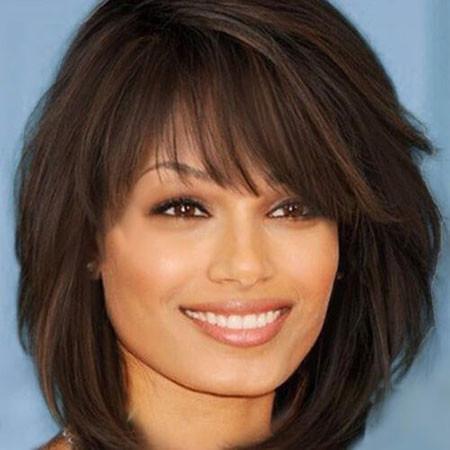 Short-Medium-Hair-with-Bangs Popular Short Haircuts 2018 – 2019