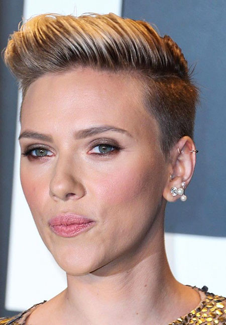 Short-Pixie-Cut Scarlett Johansson Short Hairstyles