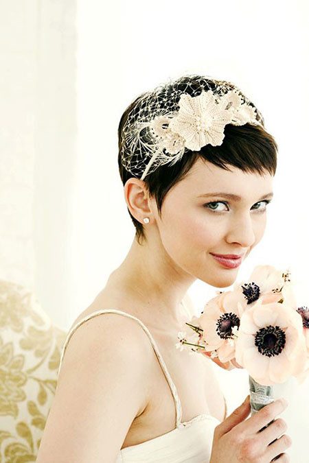 Short-Pixie-Hair-for-Wedding Wedding Hairstyles for Short Hair
