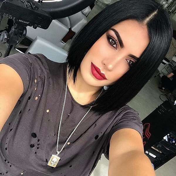 Short-Straight-Black-Hairstyle Short Straight Hairstyles 2019