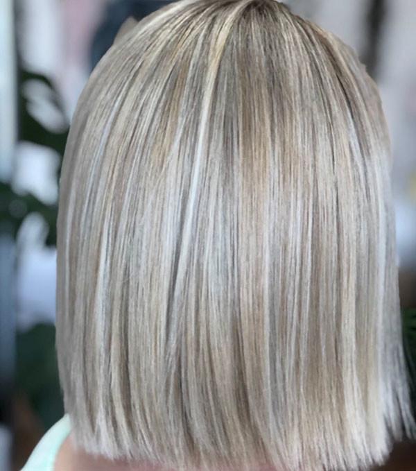 Short-Straight-Blonde-Hairstyle-1 Short Straight Hairstyles 2019
