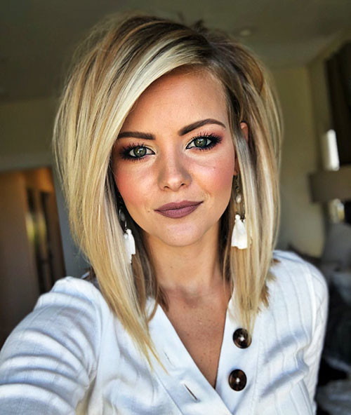 Short-Straight-Hairstyle-2018 Short Layered Haircuts 2018 – 2019