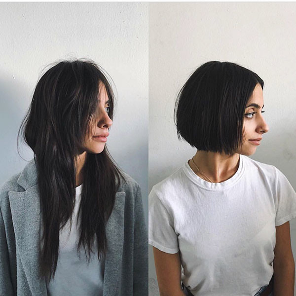 Short-Straight-Hairstyle-for-Round-Face Short Straight Hairstyles 2019