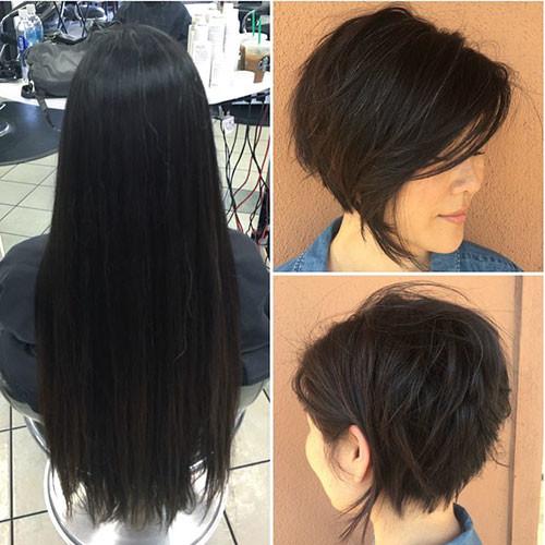 Short-Thick-Hair Short Layered Haircuts 2018 – 2019