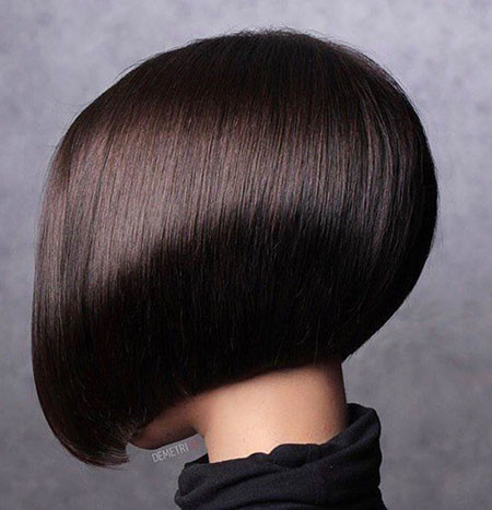 Sleek-Hair-1 Short Inverted Bob Hairstyles