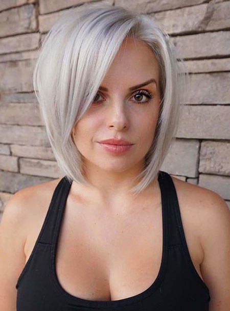 Sleek-and-Neat-Angled-Bob Short Bob Haircuts 2019