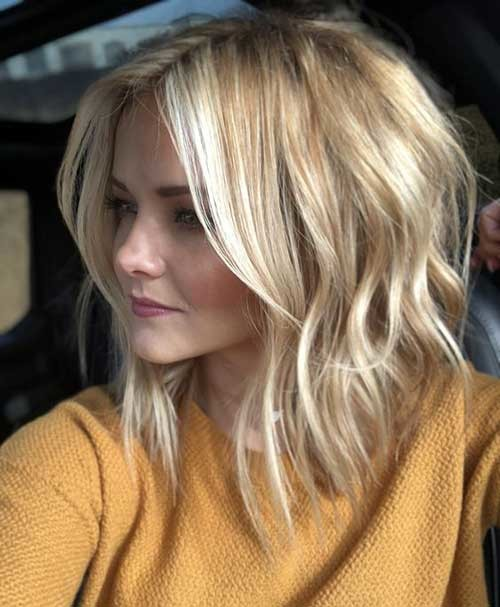 Soft-Wavy-Long-Bob Best Short Haircuts for 2018-2019