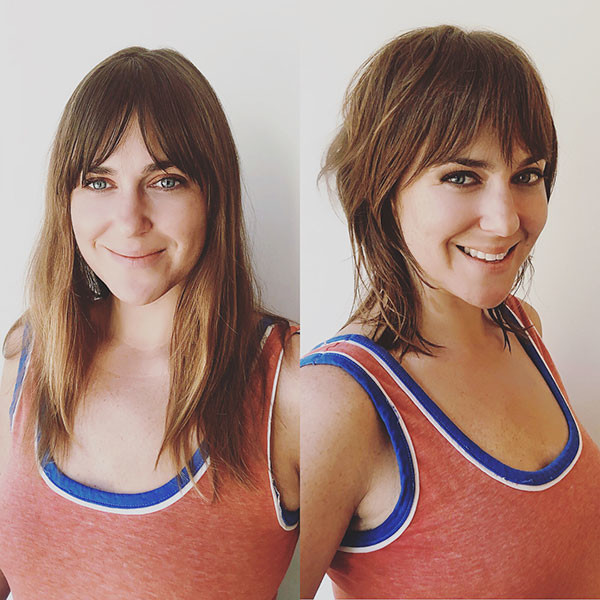 Square-Faces Short Hairstyles with Bangs 2019