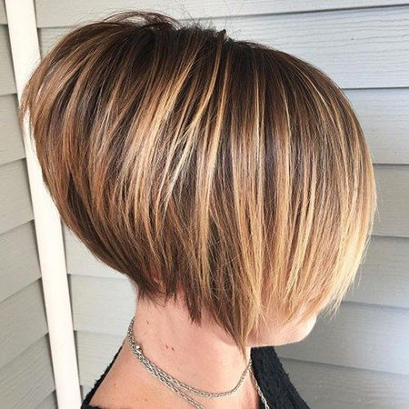 Stacked-Bob-with-Angles Trendy Short Hairstyles 2019