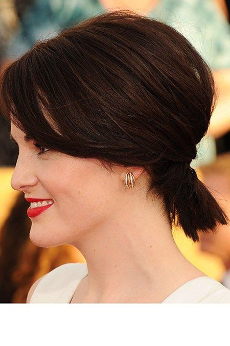 Stylish-Ponytail-with-High-Crown Ponytail Hairstyles for Short Hair