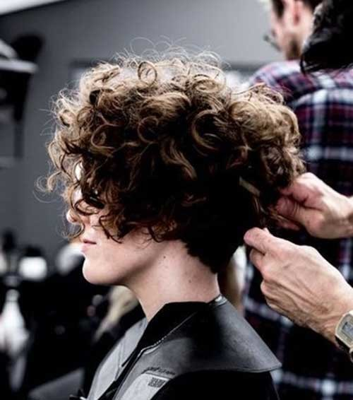 Thick-Curly-Short-Hairstyle Best Short Haircuts for 2018-2019