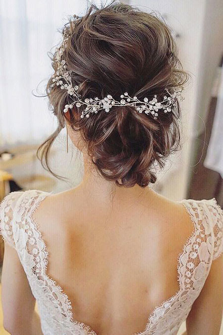 Updo-hair-for-Wedding Wedding Hairstyles for Short Hair