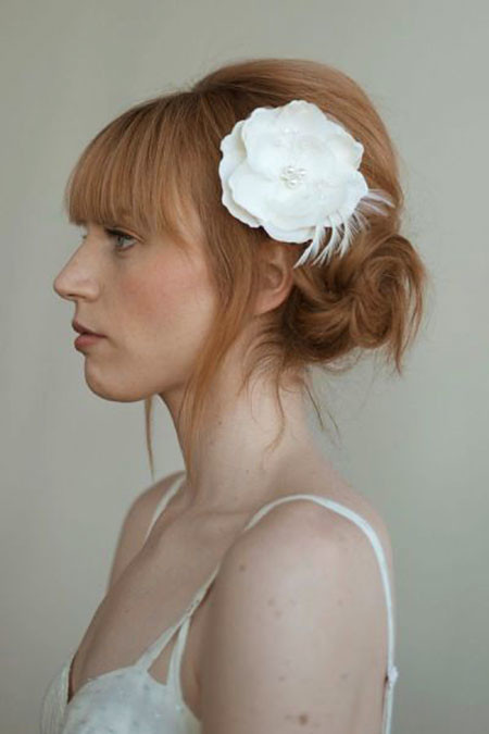 Wedding-Hairstyle Upstyles for Short Hair