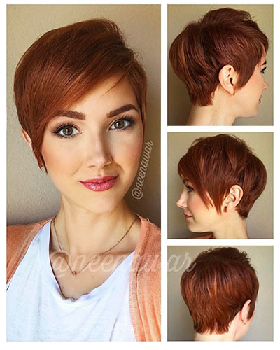 17-short-layered-hair-with-side-bangs Best New Short Hair with Side Swept Bangs