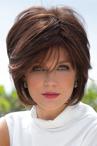 23-short-layered-hair-with-side-bangs Best New Short Hair with Side Swept Bangs
