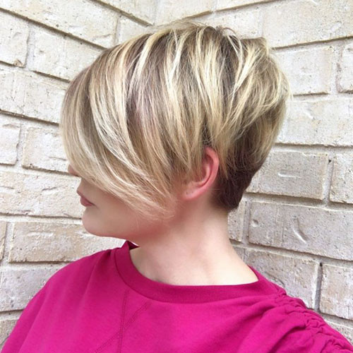 35-short-hair-long-side-bangs Best New Short Hair with Side Swept Bangs