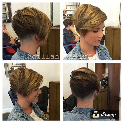41-short-side-swept-bangs Best New Short Hair with Side Swept Bangs