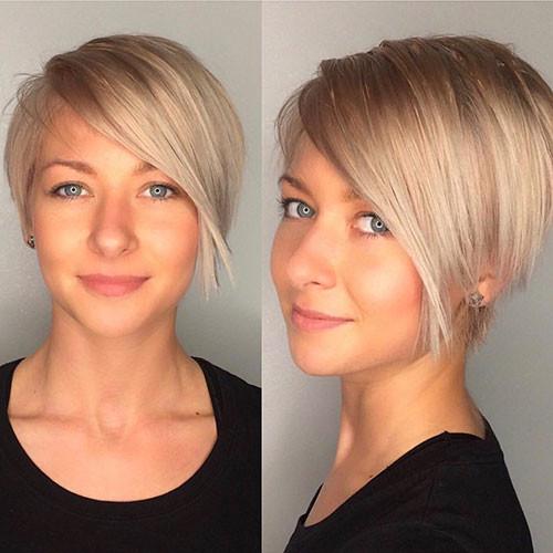45-short-hair-long-side-bangs Best New Short Hair with Side Swept Bangs