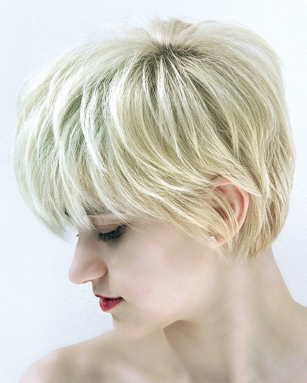 63-blonde-pixie-cut New Pixie Haircut Ideas in 2019