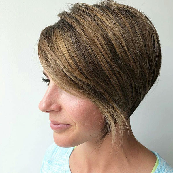 Asymmetric-Short-Haircut New Cute Short Hairstyles