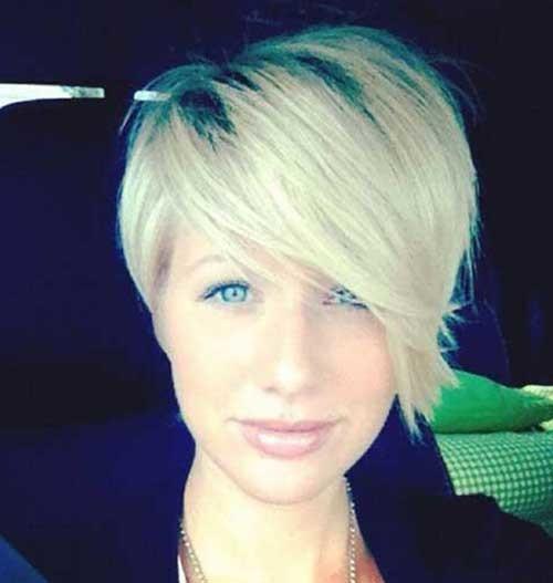 Asymmetrical-Pixie Brilliant Short Straight Hairstyles