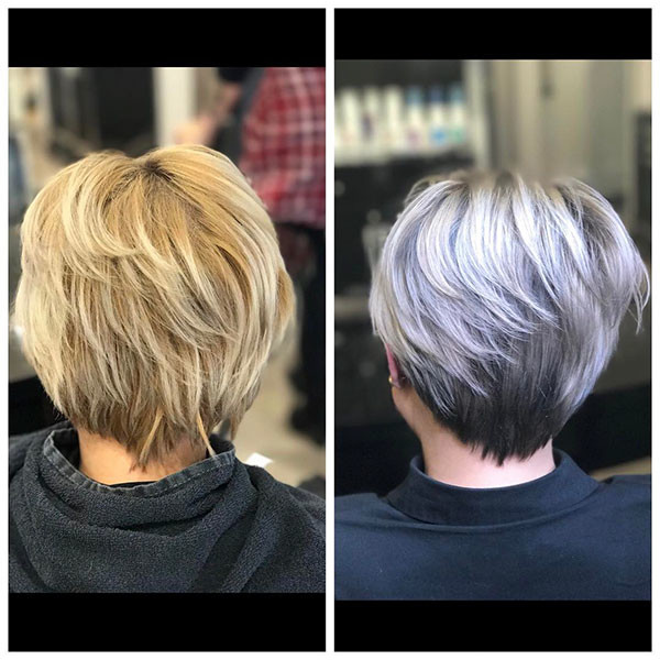 Back-View Best Short Hairstyles for Older Women in 2019