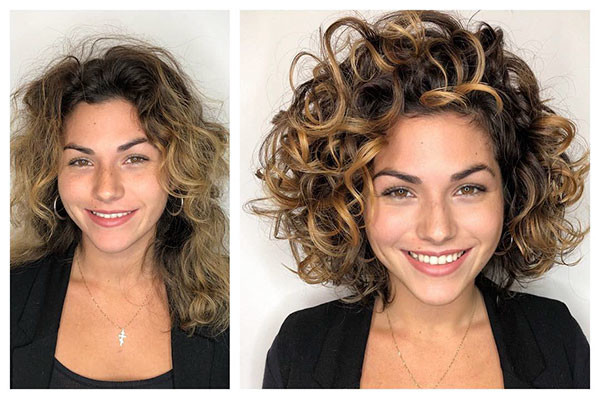 Big-Curly-Bob Best Short Curly Hair Ideas in 2019