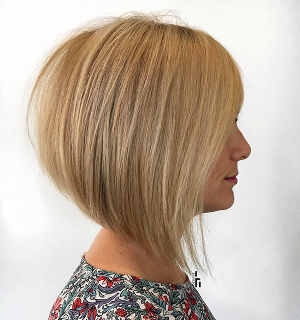 Blonde-A-Line-Bob-Style Popular Bob Hairstyles 2019