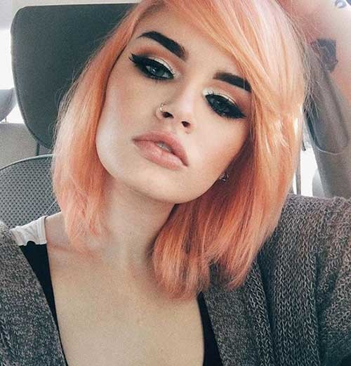 Blorange-Hair Cute Short Hairstyles and Cuts You Have to See