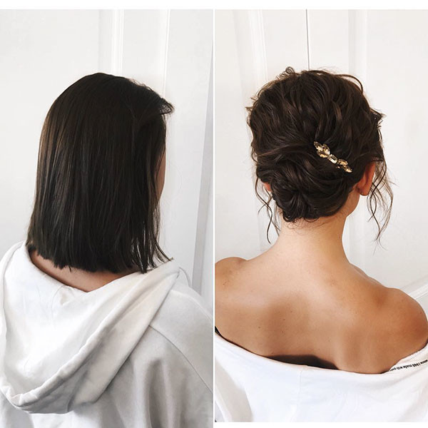 Bridal-Short-Hair Wedding Hairstyles for Short Hair 2019