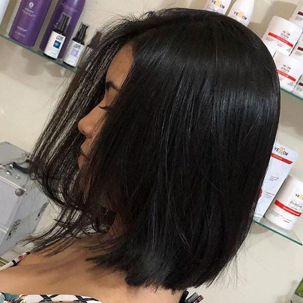 Brunette-Bob-Hair-Color Popular Bob Hairstyles 2019