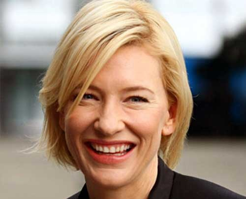 Cate-Blanchett-Bob-Hairstyle-for-Fine-Hair Short Straight Hairstyles for Fine Hair