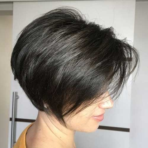 Classy-Dark-Brown-Bob Amazing Graduated Bob Haircuts for Modern Ladies