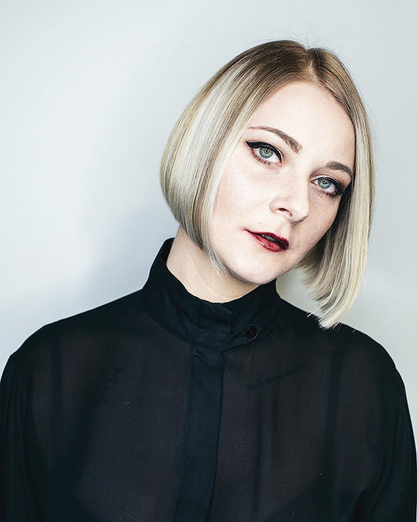 Cool-Blunt-Bob Popular Short Hairstyles for Fine Hair