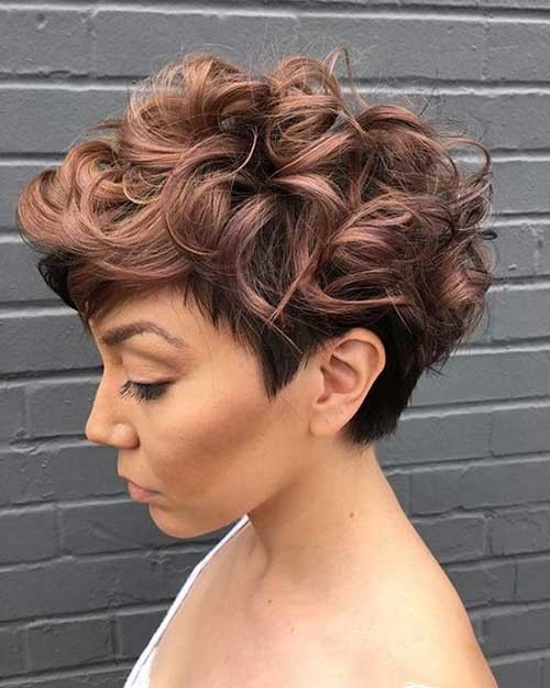 Curly-Pixie-Style New Short Haircut Trends Women 2019