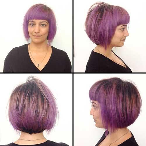 Cute-Bangs-2 Brilliant Short Straight Hairstyles
