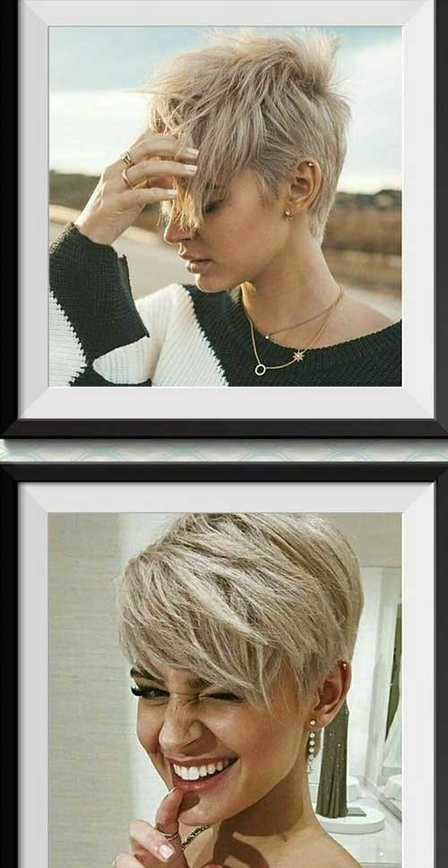 Cute-Blonde-Asymmetrical-Pixie-Cut Stylish Pixie Haircuts Every Women Should See